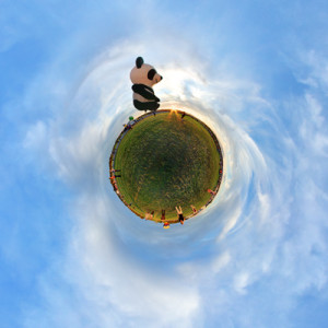 360 Degree Planet From Virtual Tour of Panda at Adirondack Balloon Festival
