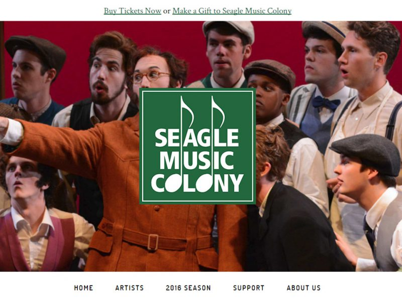 Seagle Music Colony Website Redesign